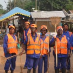Zoomlion workers on the Community Labour Day