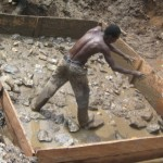 Digging and creating a suitable sewer