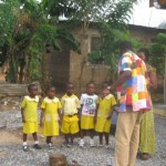 Mohammed teaching about sanitation and environmental science